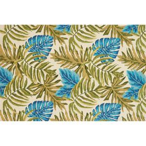 Venice Beach Ivory and Green Rectangular: 2 Ft. 3 In. x 3 Ft. 9 In. Indoor/Outdoor Rug
