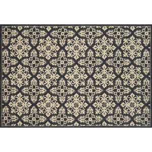 Venice Beach Ivory and Grey Square: 1 Ft. 6 In. Indoor/Outdoor Rug