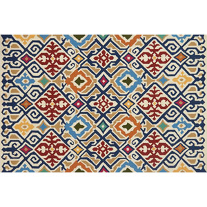 Venice Beach Multicolor Square: 1 Ft. 6 In. Indoor/Outdoor Rug