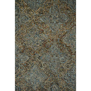 Victoria Charcoal and Multicolor Rectangular: 7 Ft. 9 In. x 9 Ft. 9 In. Rug