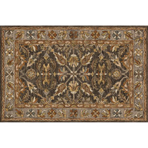 Victoria Taupe and Gray Rectangular: 2 Ft. 3-Inch x 3 Ft. 9-Inch Area Rug