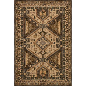 Victoria Walnut and Beige Rectangular: 2 Ft. 3-Inch x 3 Ft. 9-Inch Rug