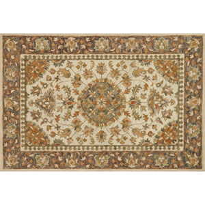 Victoria Ivory and Charcoal Rectangular: 2 Ft. 3 In. x 3 Ft. 9 In.