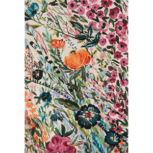 Wild Bloom Multicolor Round: 7 Ft. 10 In. x 7 Ft. 10 In. Rug