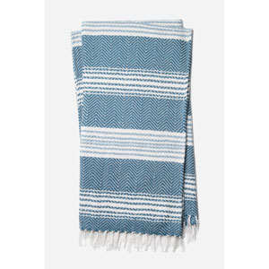 Wren Blue and White Throw