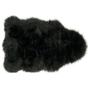 Yukon Charcoal and Black Shag Rectangular: 2 Ft. x 3 Ft. Area Rug