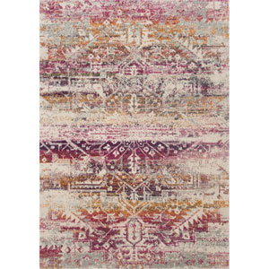 Zehla Sunset and Ivory Rectangular: 2 Ft. 2 In. x 3 Ft. 9 In.  Rug
