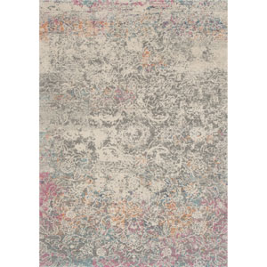 Zehla Grey and Multicolor Rectangular: 9 Ft. x 12 Ft. 2 In.  Rug