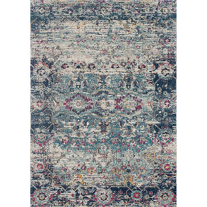 Zehla Teal and Indigo Rectangular: 2 Ft. 2 In. x 3 Ft. 9 In.  Rug
