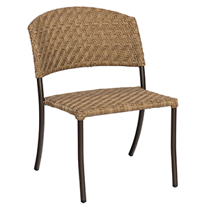 Barlow Bronzed Teak Dining Side Chair