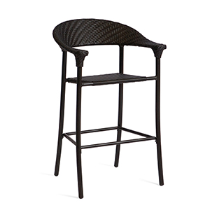 Barlow Dark Roast Stationary Bar Stool