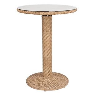 Barlow Bronzed Teak Bar Height Table