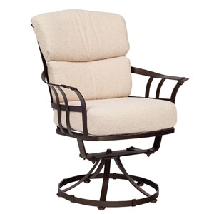 Atlas Linen Stone Swivel Dining Arm Chair