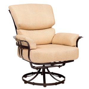 Atlas Linen Stone Swivel Lounge Chair