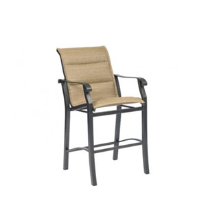 Cortland Padded Sling Fiera Walnut Stationary Bar Stool