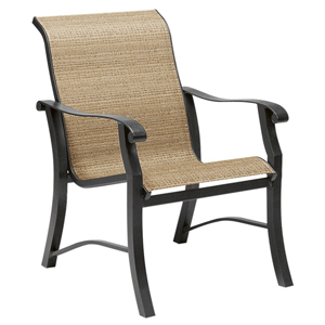 Cortland Sling Augustine Gravel Dining Arm Chair