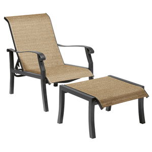 Cortland Sling Putty Adjustable Lounge Chair
