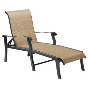 Cortland Sling Fiera Walnut Adjustable Chaise Lounge