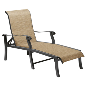 Cortland Sling Augustine Gravel Adjustable Chaise Lounge