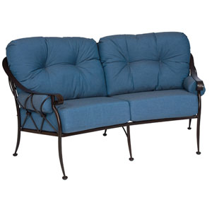 Derby Spectrum Denim Crescent Love Seat
