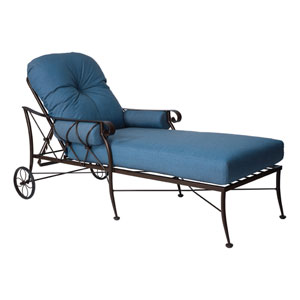 Derby Flagship Pecan Adjustable Chaise Lounge