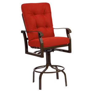 Cortland Cushion Brissa Lasso Distressed Swivel Bar Stool