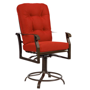 Cortland Cushion Denver Scarlett Swivel Counter Stool