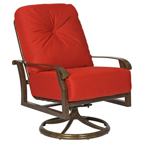 Cortland Cushion Canyon Bamboo Swivel Rocking Lounge Chair