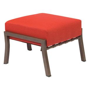 Cortland Cushion Dupione Papaya Ottoman