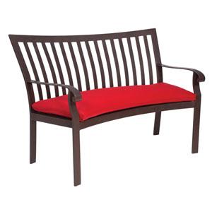 Cortland Cushion Denver Scarlett Crescent Bench with Optional Cushion