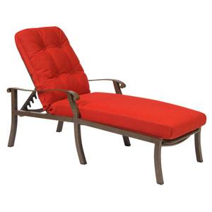 Cortland Cushion Flagship Pecan Adjustable Chaise Lounge