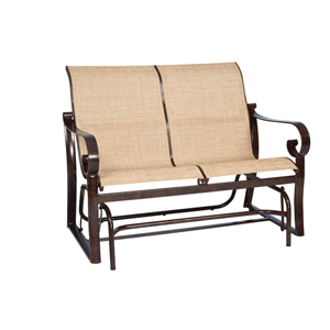 Belden Sling Current Sisal Love Seat Glider