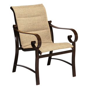 Belden Padded Sling Sultan Camel Dining Arm Chair