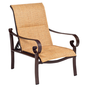 Belden Padded Sling Putty Adjustable Lounge Chair