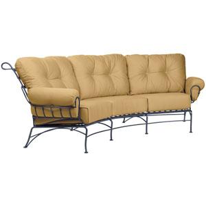 Terrace Linen Sesame Crescent Sofa