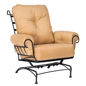 Terrace Dupione Papaya Spring Lounge Chair
