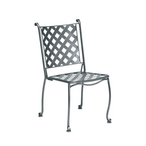 Maddox Textured Black Stackable Bistro Side Chair