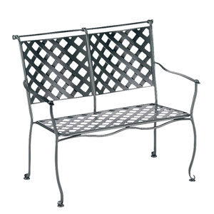 Maddox Textured Black Stackable Bench