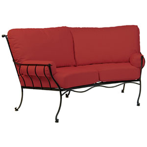 Maddox Denver Scarlett Crescent Loveseat