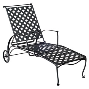 Maddox Textured Black Adjustable Chaise Lounge