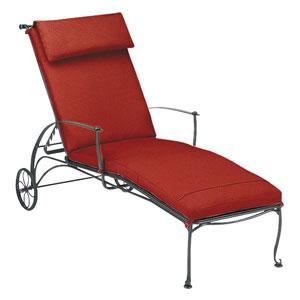 Maddox Dupione Papaya Adjustable Chaise Lounge with Optional Cushion