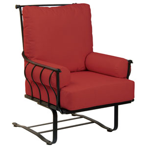 Maddox Dupione Papaya Spring Lounge Chair