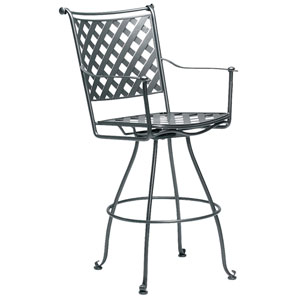 Maddox Textured Black Swivel Bar Stool
