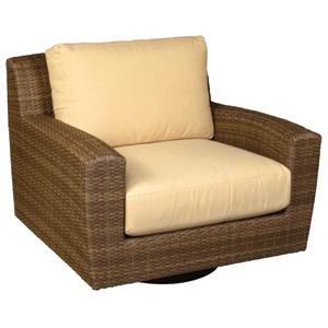 Saddleback Sailcloth Sand Swivel Lounge Chair