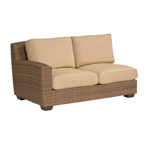 Saddleback Sailcloth Sand Left Arm Facing Love Seat Sectional Unit