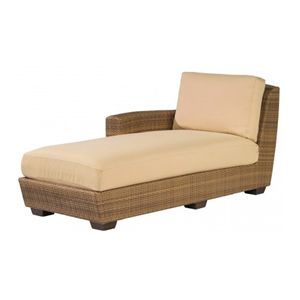 Saddleback Sailcloth Sand Left Arm Facing Chaise Lounge Sectional Unit