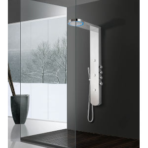 Boann Polished Chrome LED Shower Panel with Mist Massager Jet