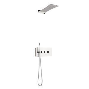 Boann Polished Chrome Recessed Shower System