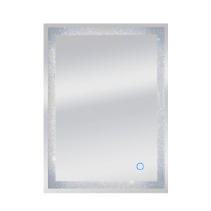 Edison Crystal Silver 24 x 34 Inch ADA LED Mirror