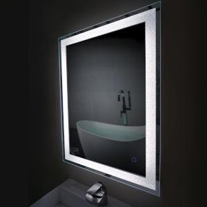 Edison Crystal Rectangular Silver 30-Inch LED Bathroom Mirror